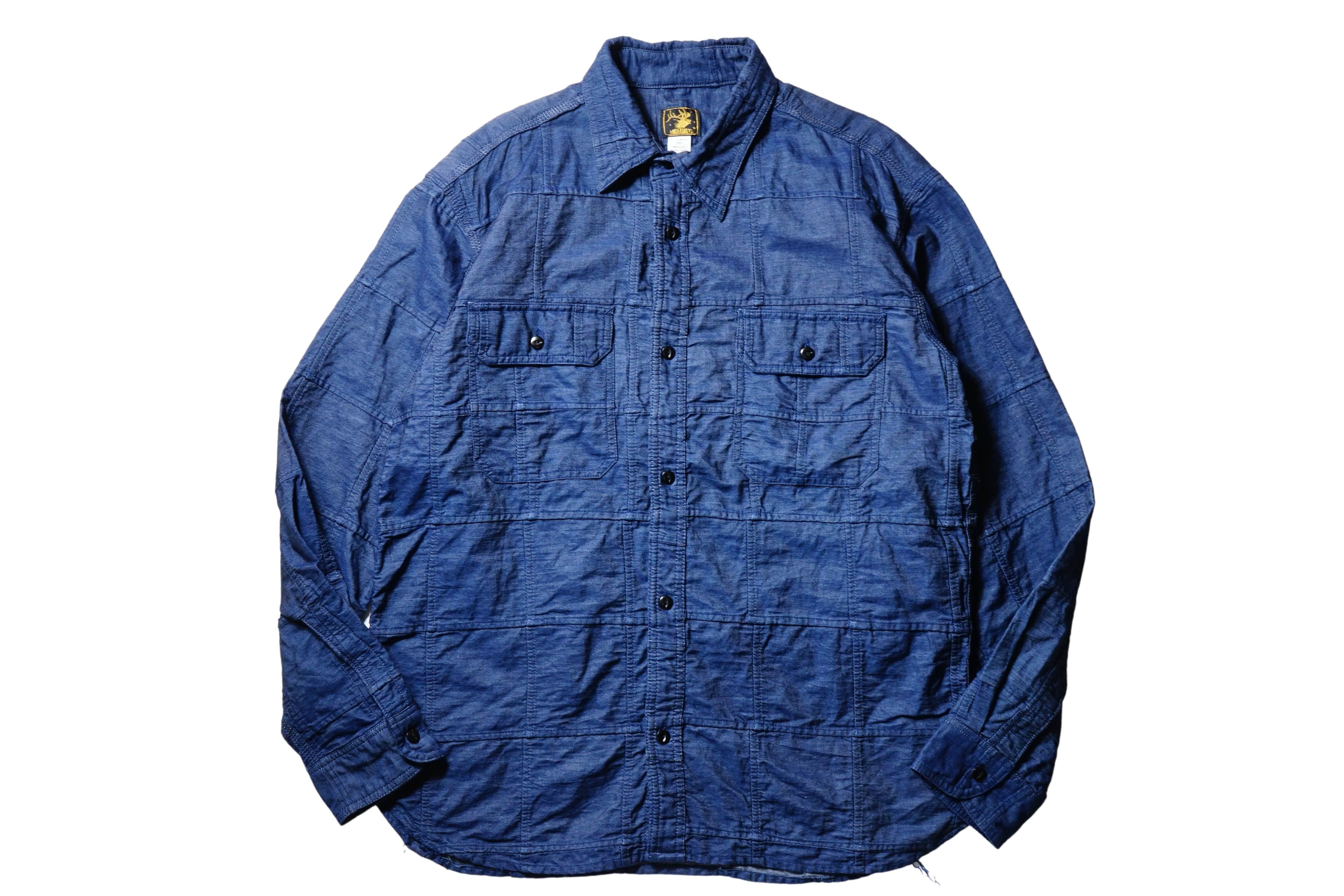 ANDFAMILYS /アンドファミリーズ Indigo Crash Patchwork Shirts
