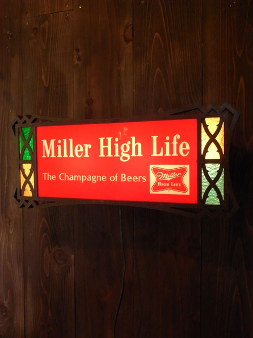 "VINTAGE MILLER HIGH LIFE BEER ミラービール ""Miller High life""ビンテージ ライトサイン"