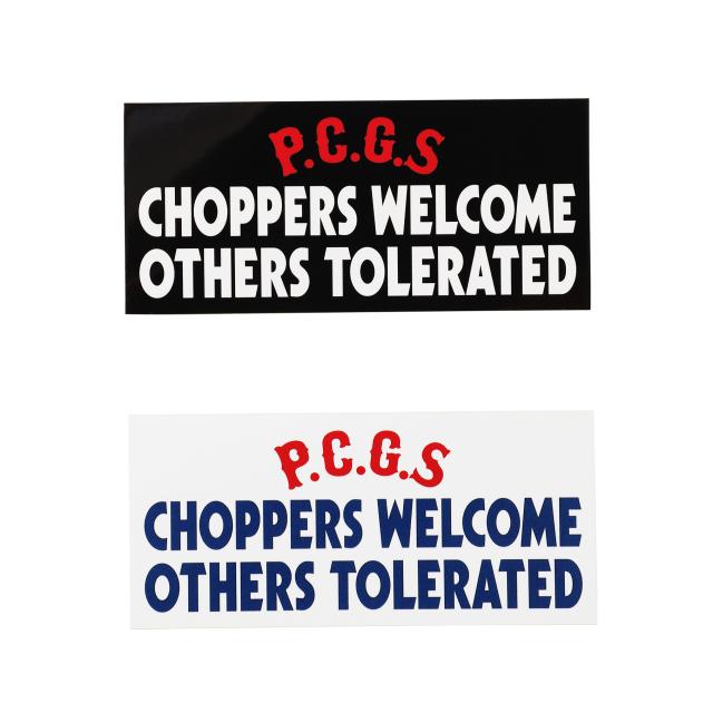 PORKCHOP GARAGE SUPPLY/ポークチョップ ガレージサプライ CHOPPERS WELCOME STICKER