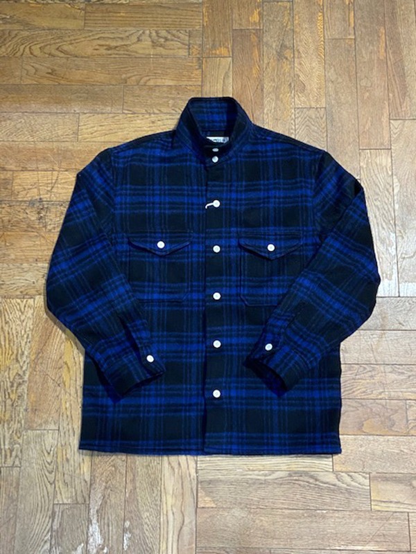ANDFAMILYS /アンドファミリーズ BUFFALO PLAID STAND COLLAR SHIRTS