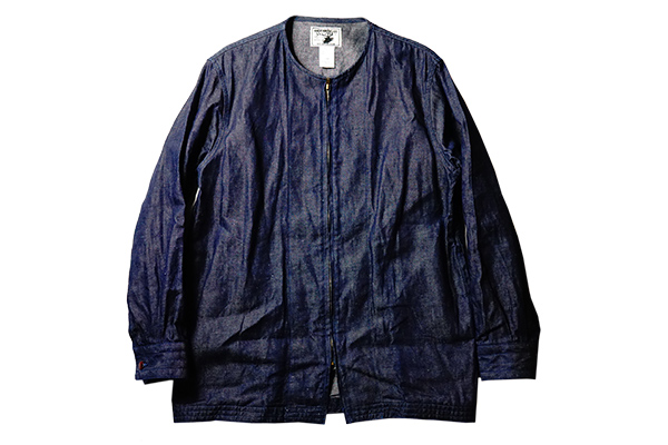 "ANDFAMILYS /アンドファミリーズ COLLARLESS CL DENIM JACKET ""Dragon"""