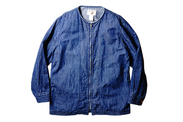 ANDFAMILYS /アンドファミリーズ COLLARLESS CL DENIM JACKET