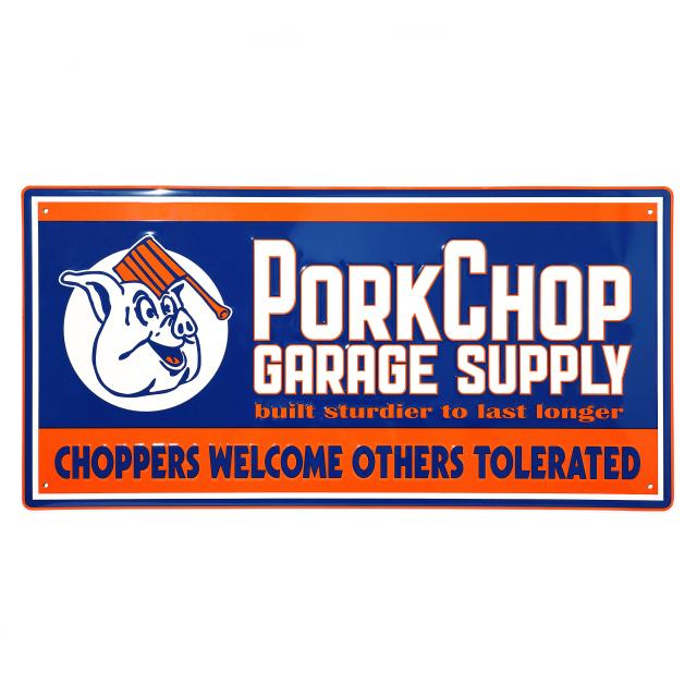 PORKCHOP GARAGE SUPPLY/ポークチョップ ガレージサプライ METAL SIGN