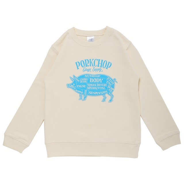 PORKCHOP GARAGE SUPPLY/ポークチョップ ガレージサプライ PORK FRONT SWEAT for Kids P-20