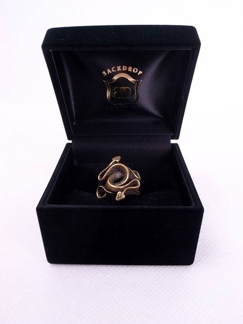 BACKDROP Leathers/バックドロップ・レザーズ SNAKE RING(BRASS)