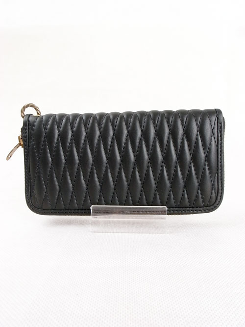 BACK DROP Leathers/バックドロップ ZIP WALLET with Twist Ring