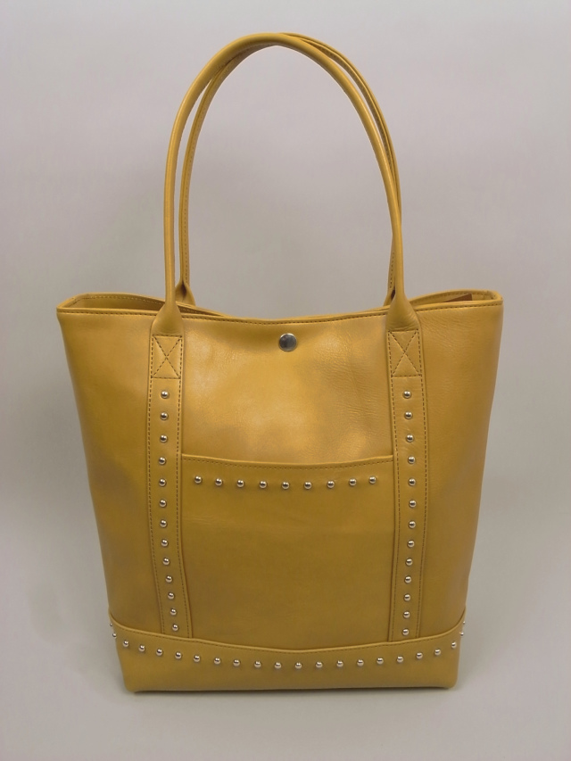 "ANDFAMILY /アンドファミリー Leather tote bag ""Yellow Blues"""