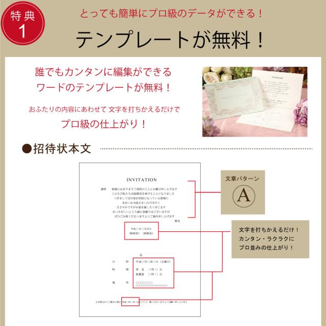 結婚式 招待状 簡単手作りキット