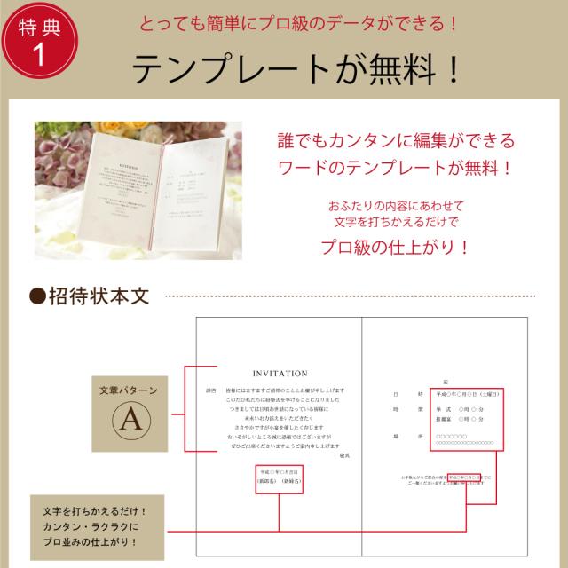 結婚式 招待状 簡単手作りキット 印刷 無料テンプレート 格安 福岡