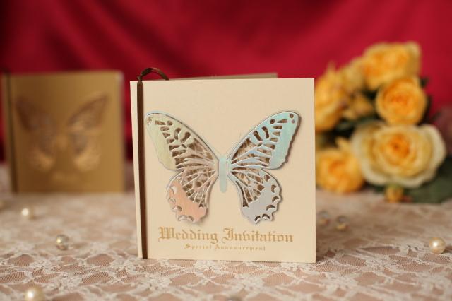 モルフォ結婚式招待状(パール)