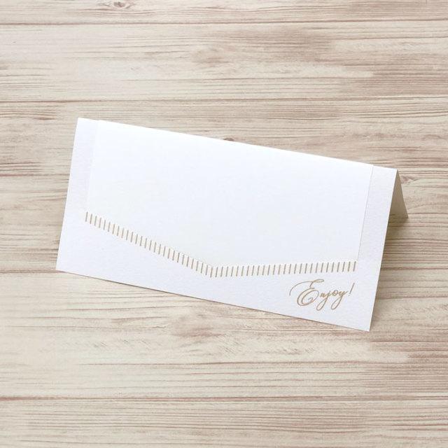 結婚式 席札 クレール(ホワイト) 6名様分セット