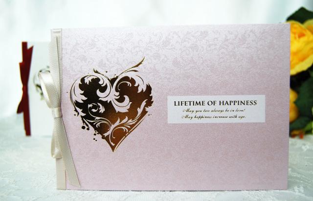 シャイニー結婚式招待状(ピンク)