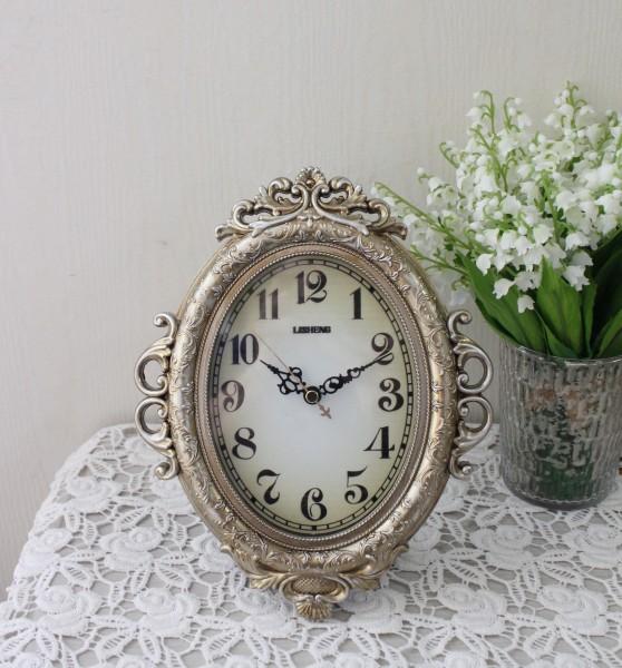 ビクトリアンパレス 置時計 掛時計 無音 スイープムーブメント ロココ調 ヨーロピアン アンティーク風 シャビーシック フレンチ