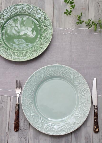 アンティークな輸入食器 ディナープレート ディナー皿(RUA NOVA/BG/GR) ボルダロ・ピニェイロ ポルトガル製 おしゃれ シャビー