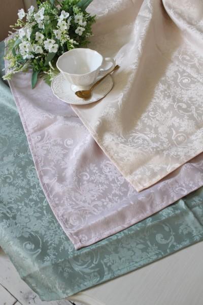プチトリアノン テーブルクロス  撥水 長方形 130×200cm (ピンクベージュ・ライラック・グリーン) 可愛い 洗濯可 はっ水 ヨー