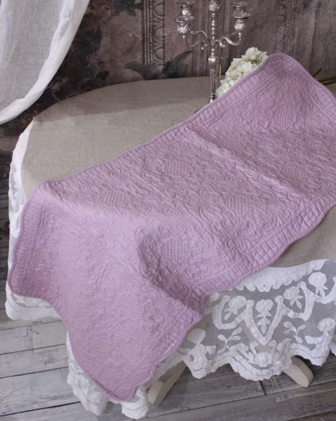 ライラックキルト マット(50×120cm)キッチンマット  キルティング 布製 アンティーク風 フレンチカントリー シャビーシック