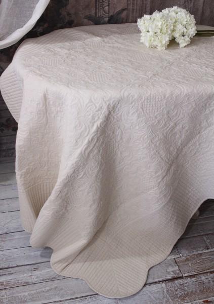 ペールベージュキルト(140×200)リバーシブル  キルトラグ キルティングスロー キルティング マルチカバー キルティングラ