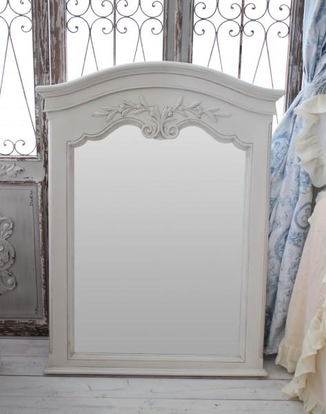 カントリーコーナー 【Country Corner】 ROMANCE ロマンス・コレクション 壁掛けミラー 大型ミラー 白家具 フランス シャ