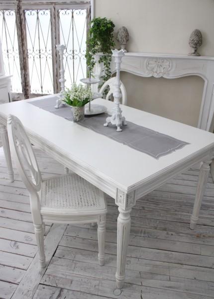 【予約注文品】アンティーク風な木製ダイニングセット(スモール・ホワイト) ダイニングテーブル 白 ホワイト 5点セット テー