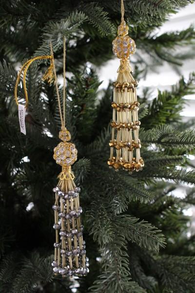 (SALE・50) クリスマスオーナメント♪ (ビーズタッセル・2種) シャビーシック 北欧 フレンチ ロマンティック ラ