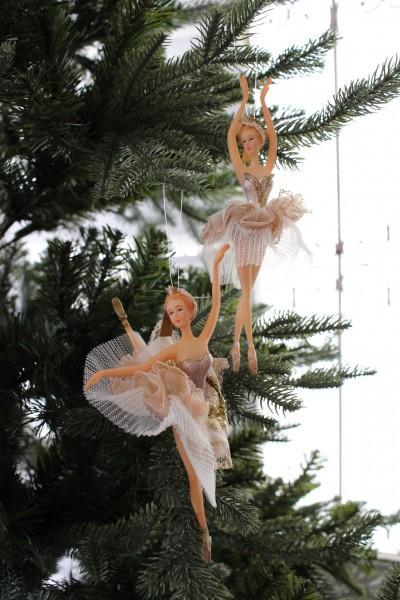 クリスマスオーナメント♪ (スカイバレリーナ・2種) シャビーシック 北欧 フレンチ ロマンティック ラインストーン 可