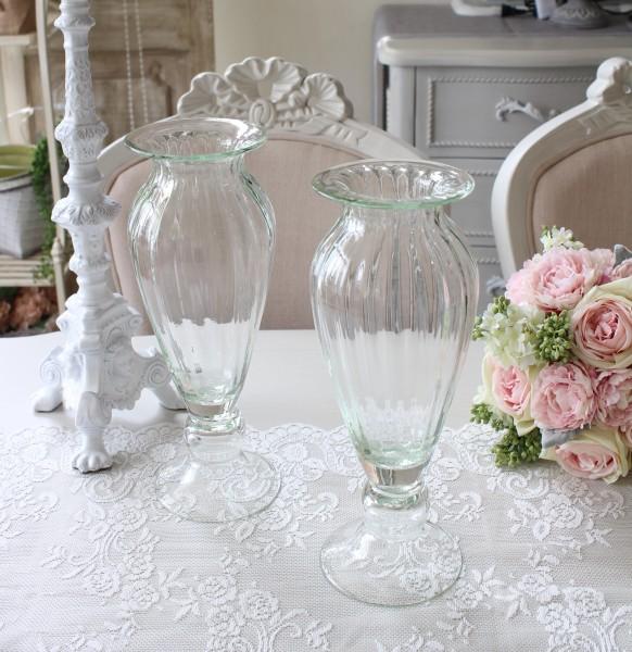 ガラスベース ヨーロピアンコンポート 花瓶 ベース ヨーロピアン型 ガラス花器 洋風 輸入雑貨 シャビーシック ヨーロピアン雑貨