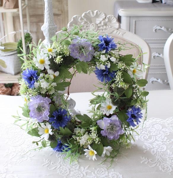 ナチュラルリース 可愛い 壁掛け 造花 リース 小花 グリーン シルクフラワー アーティフィシャルフラワー インテリアフラワー ブ