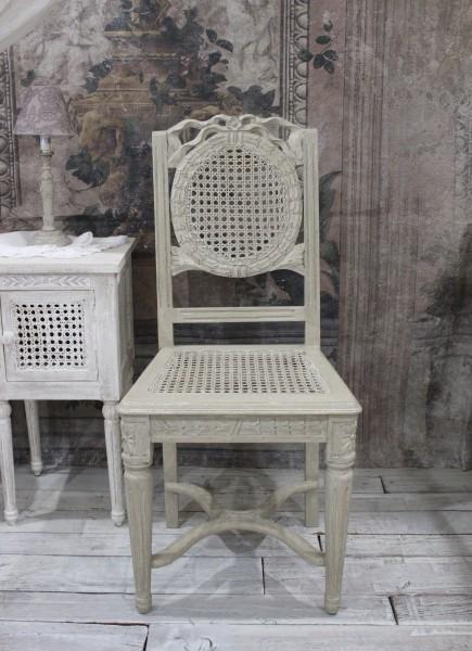 Coquecigrues コクシグル ダイニングチェア アンティーク 椅子 アンティークホワイト GRIS ANTIQUE シャビーシック フレンチカン
