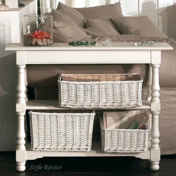 アンティーク 家具 ROMANCE ロマンス・コレクション コンソール ディスプレイ棚 本棚 飾り棚 白家具 白 フランス シャビーシック