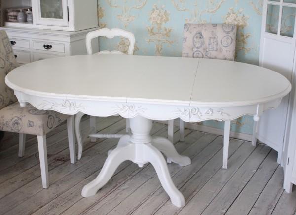 シャビーシック ダイニング 5点セット ホワイト 木製 テーブルマットプレゼント アンティーク風 カントリーコーナー ラウンドダ