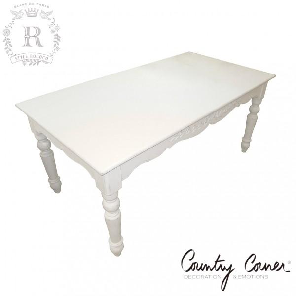 ダイニングテーブル 白 ホワイト 白家具 レクト型 Country Corner ROMANCE カントリーコーナー ロマンス コレクション 長方形 フ