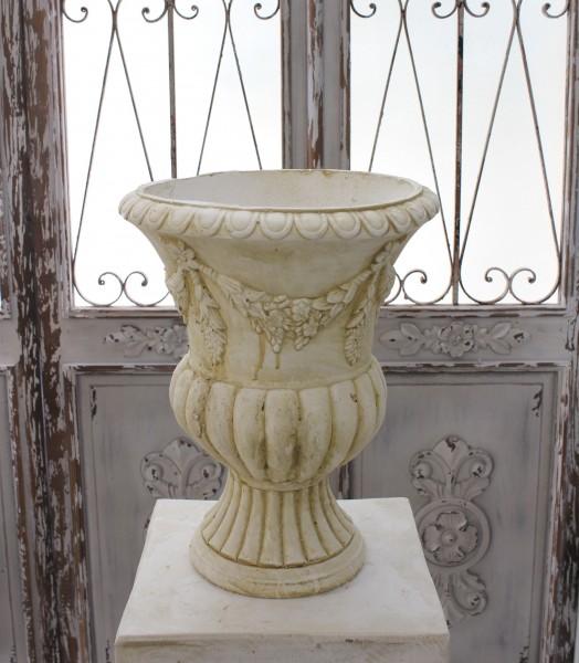 アンティーク風 プランター(ガーランド001) テラコッタ 花器 鉢 シャビーシック  フレンチカントリー アンティーク 雑貨 姫系