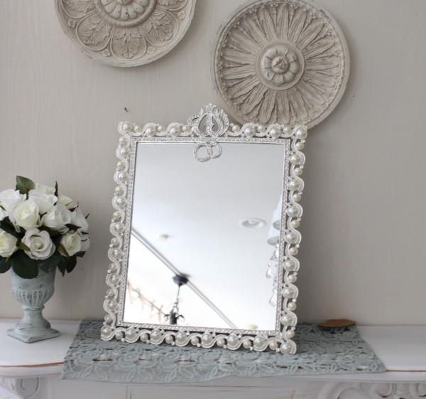アンティーク風・雑貨 (ジュエルミラー002) 卓上ミラー 壁掛けミラー 鏡 可愛い  シャビーシック  フレンチカントリー アン