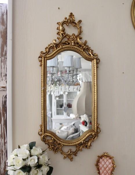 ロココ調 壁掛けミラー(ゴールド014)壁面 鏡 壁掛け ウォールデコ アンティーク風 シャビーシック ガーリー 姫系 アンティーク