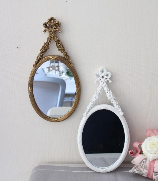 リボンミラー ホワイト018 ゴールド019 壁掛けミラー ロココ調 姫系 可愛い アンティーク風 シャビーシック フレンチカントリー