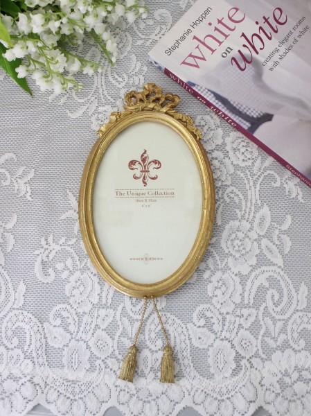 リボン&タッセルのフレーム飾り(S180)壁掛け フォトフレーム  可愛い アンティーク風 シャビーシック フレンチカントリー テ