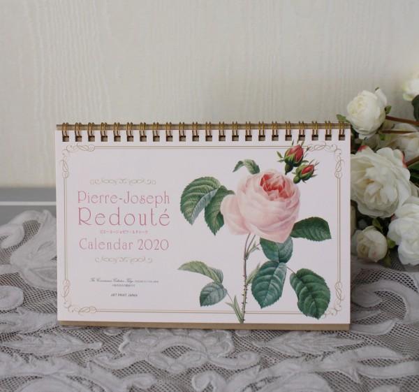 2020年  ルドゥーテ 卓上カレンダー 薔薇 令和2年度 ネコポス可 日本製
