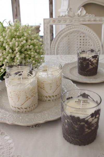 フランスメイドの素敵な香り♪♪ アロマキャンドルS(ローズ、ラベンダー、コットンフラワー、フィグ、ライスパウダー、オーキッ