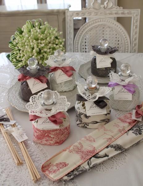 フランスメイドの素敵な香り♪♪ アロマディフューザー(ローズ、ラベンダー、コットンフラワー、フィグ、ライスパウダー、オーキ