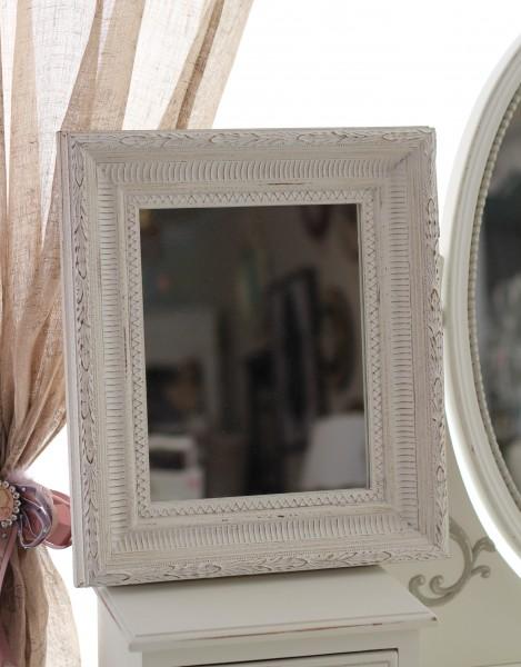 アンティーク ホワイト スクエア型ミラー(122) 壁掛けミラー 鏡 縦横OK フレンチカントリー アンティーク風 シャビーシック