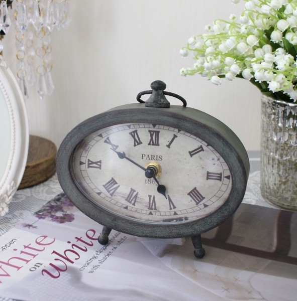 アンティークな置時計(PARIS1863) テーブルクロック 可愛い アンティーク風 シャビーシック フレンチカントリー テーブルクロ