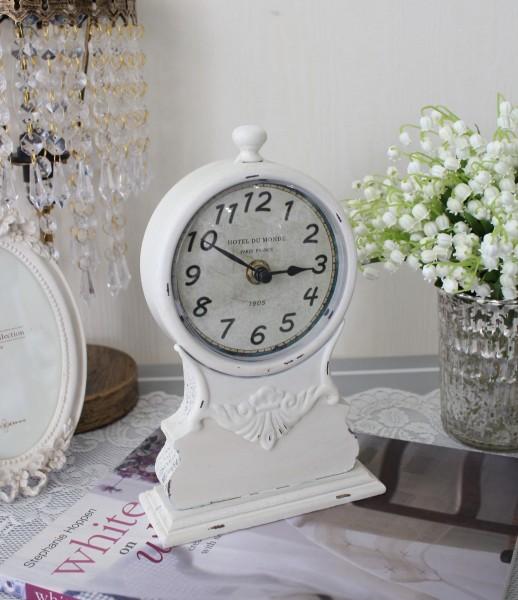 アンティークな置時計(HOTEL DU MONDE) テーブルクロック 可愛い アンティーク風 シャビーシック フレンチカントリー テーブル