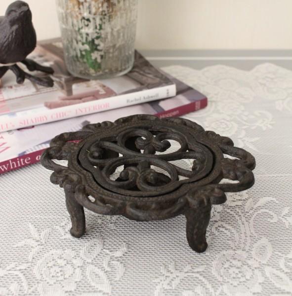 アンティークなディッシュウォーマー 鋳物 キャストアイアン フレンチカントリー アンティーク風 雑貨 シャビーシック 姫系