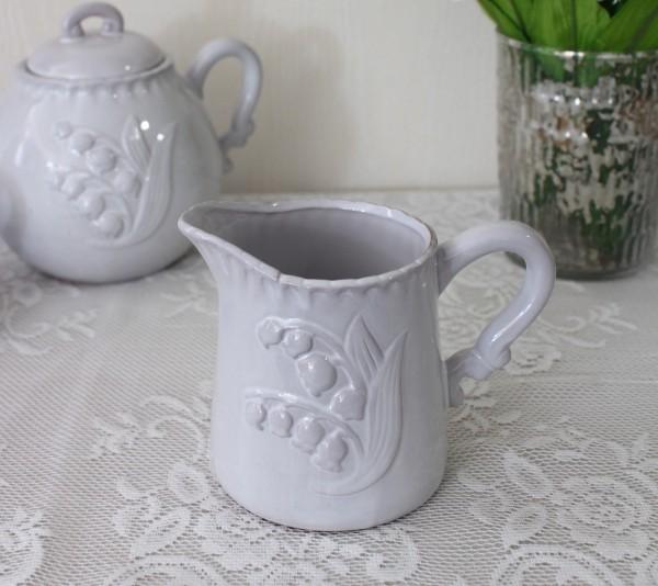 アンティーク風 フレンチ食器 ミュゲシリーズ ミルクピッチャー クリーマー フレンチ食器 スズラン フランス アンティーク調 陶