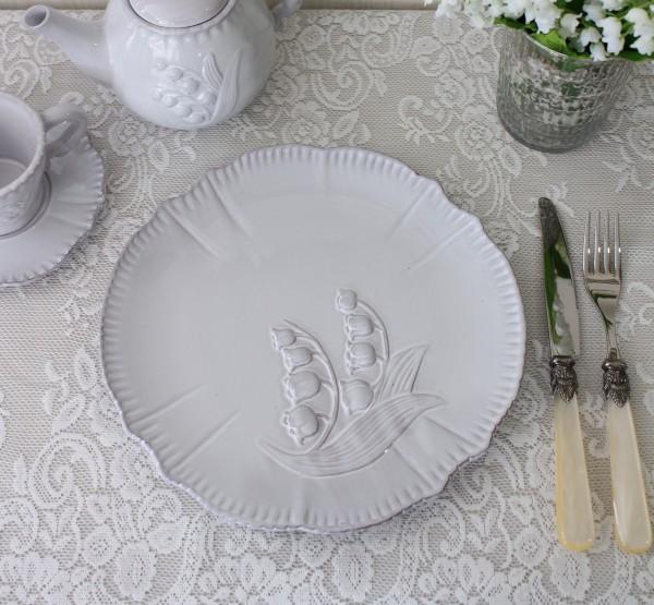 アンティーク風 フレンチ食器 ミュゲシリーズ プレートL ディナープレート ディナー皿 フレンチ食器 スズラン フランス アンテ