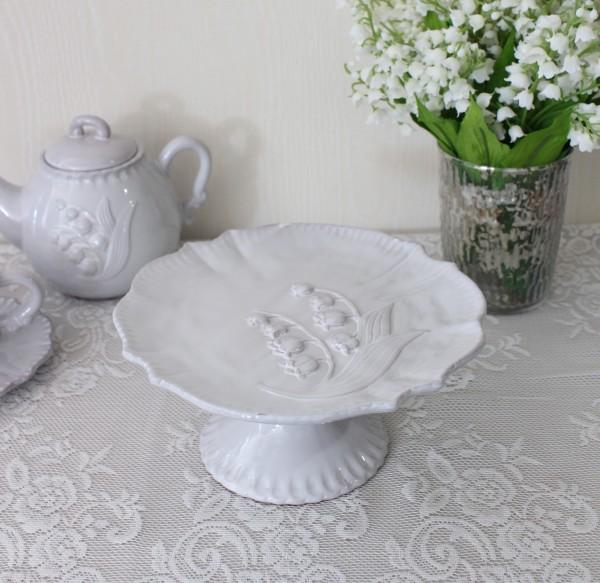 アンティーク風 フレンチ食器 ミュゲシリーズ ケーキスタンド コンポート フレンチ食器 スズラン フランス アンティーク調 陶器