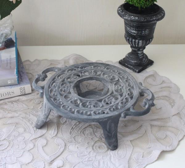 アンティークなディッシュウォーマー 0222 鋳物 キャストアイアン フレンチカントリー アンティーク風 雑貨 シャビーシック 姫系