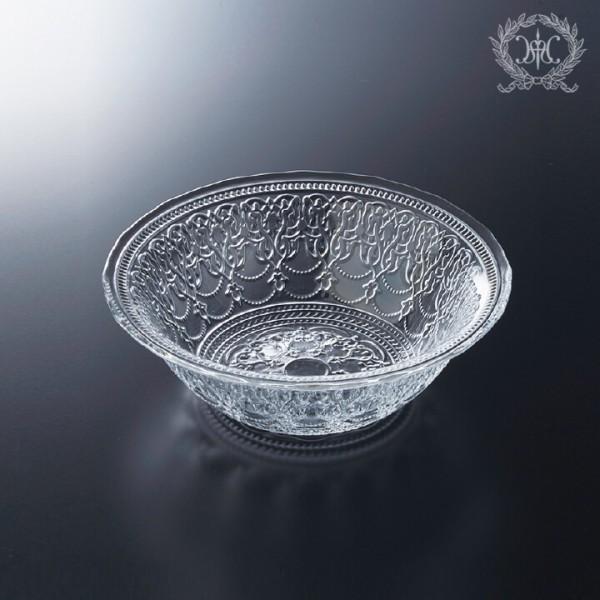 トルコ製の素敵なガラス食器 ボールMサイズ 1151 ガラスプレート 輸入食器 ガラス製 ケーキ皿 ディナー皿 ガラスボウル