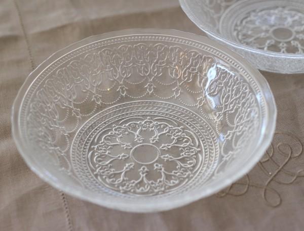 トルコ製の素敵なガラス食器♪ (ボールLサイズ) ガラスプレート 輸入食器 ガラス製 ケーキ皿 ディナー皿 ガラスボウル