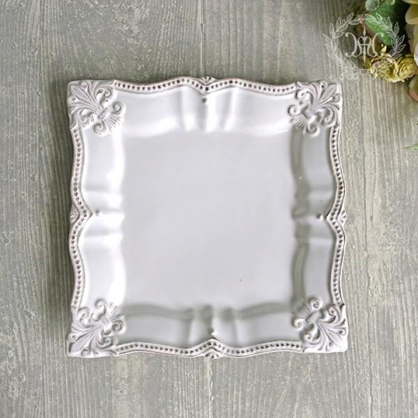 アンティーク風なフレンチ食器 シェルシリーズ ケーキプレート ケーキ皿 フレンチ食器 フランス アンティーク調 陶器 フレンチカ